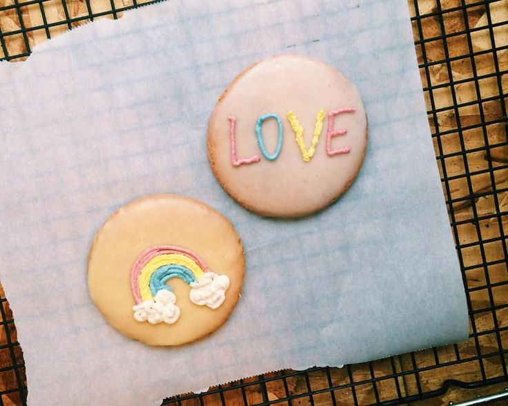 "15 Likes, 1 Comments - Melissa Thoen (@stuffmelbakes) on Instagram: ""Sugar cookies. #vegan #glutenfree #pride #vancouverpride #theamademedoit"""