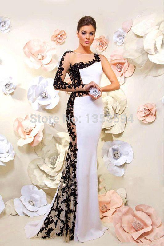Дешевое Горячая! бесплатная доставка 2014 новый Shealth аппликации атласные элегантный с длинным рукавом вечерние платья знаменитости платья, Купить Качество Выпускные платья непосредственно из китайских фирмах-поставщиках:                                        Нужно только               4 шаги                , Вы можете взять это платье для