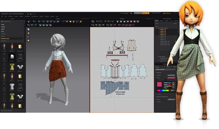 Marvelous Designer - pattern making software. $60/month or $550 for permanent license.