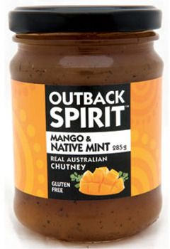 Outback Spirit Mango & Native Mint Chutney 285g Buy In Bulk & Save! Buy 1 or more:	Pay $7.00 Buy 2 or more:	Pay $6.50