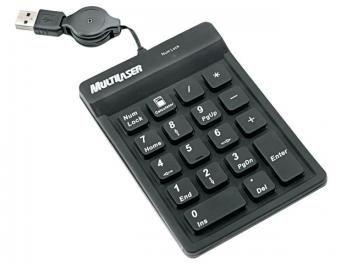 Teclado Numérico para Notebook USB - Multilaser TC096