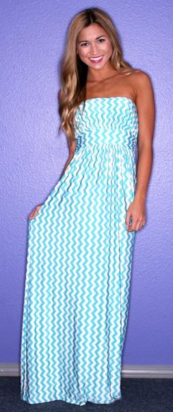 Sunshine Stripe in Aqua - $42.00