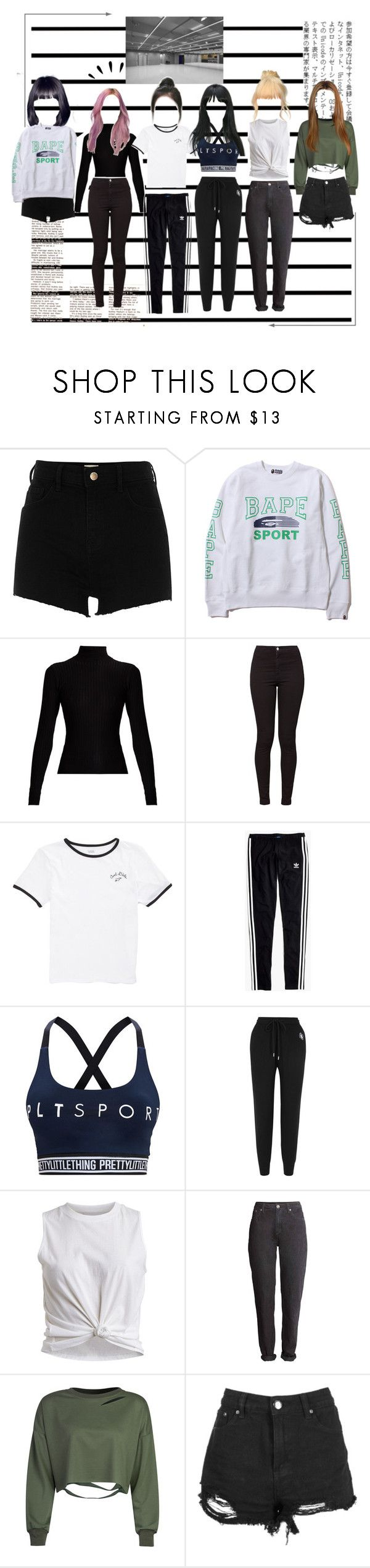 """""""RØULETTE (룰렛) Dance Practice"""" by rouletteofficial on Polyvore featuring Forum, River Island, A BATHING APE, Acne Studios, American Apparel, Vans, Madewell, Pretty Little Thing, Markus Lupfer e Vila Milano"""