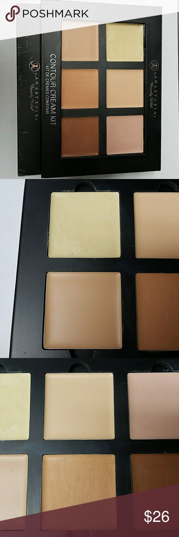 Anastasia Beverley Hills Cream Contour Kit - Light Usage shown in pictures  Banana - Used a few times Vanilla - Swatched Cool Pink - Used a few times Cream - Unused Nude - Used a few times Cinnamon - Used a few times Anastasia Beverly Hills Makeup Concealer
