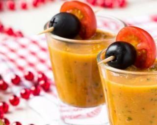 Gaspacho de carottes au cumin en verrines : http://www.fourchette-et-bikini.fr/recettes/recettes-minceur/gaspacho-de-carottes-au-cumin-en-verrines.html