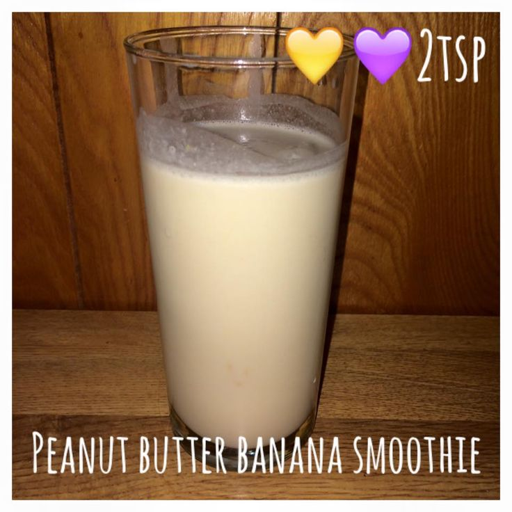 Di's Food Diary 21 Day Fix Approved Recipe = Peanut Butter Banana Smoothie