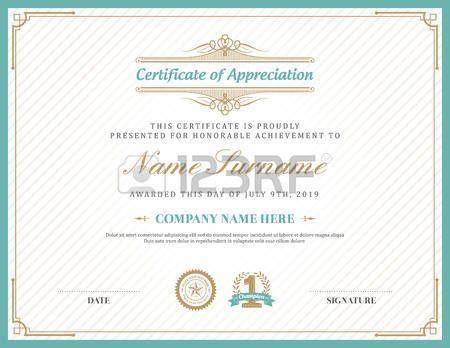 art deco border: Vintage retro art deco frame certificate background design…