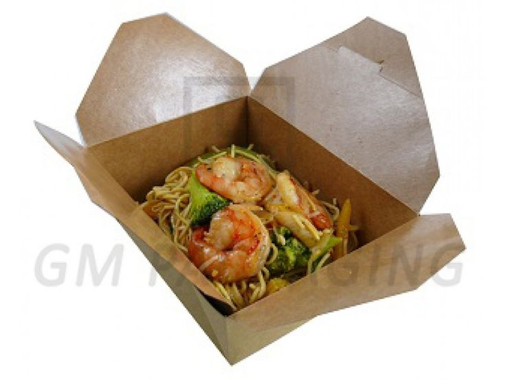Brown Kraft Food Boxes-No.8  Widely recyclable Microwaveable Grease proof Stackable Reduces heat loss