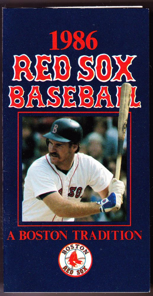 1986 BOSTON RED SOX BUDWEISER BEER BASEBALL POCKET SCHEDULE BOGGS CVR FREE SHIP #Schedule
