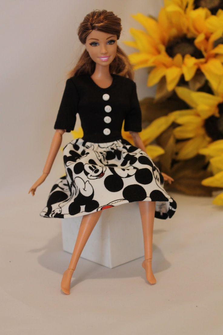 55 best Szycie ubranek dla lalek images on Pinterest | Barbie muster ...