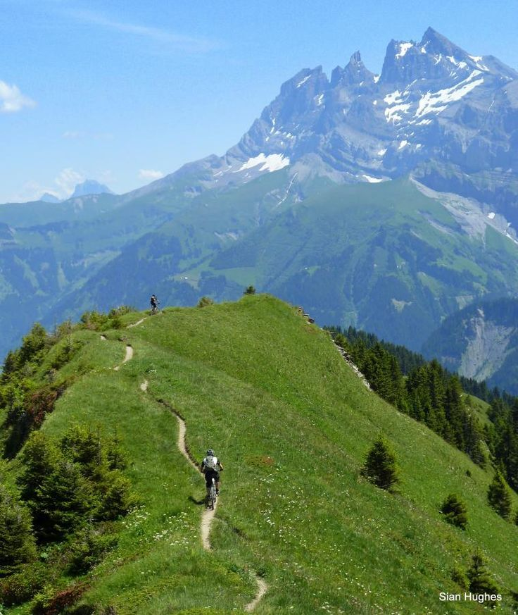 Must go here. Sweet mountain bike trail with epic view! Champery Ridge ~ Champery Via The Col Du Cou, French Alps