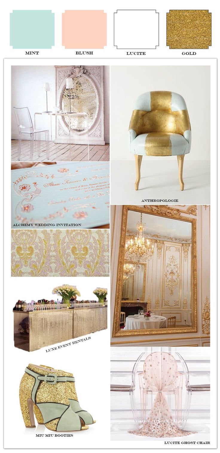 Accent Colors For Green 75 Best Dusty Rose Mint Gold And Cream Images On Pinterest