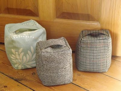 If you're looking for an on-trend Christmas gift idea that costs practically nothing but looks amazing, then have a go at this door-stop made using old clothing. I love all the tweeds and tar…