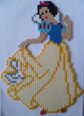 Blanche Neige (perles hama) - creationsperles