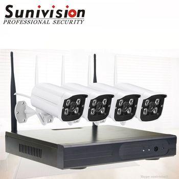 960p 4ch long range wireless outdoor cctv camera surveillance home security system 12v wireless