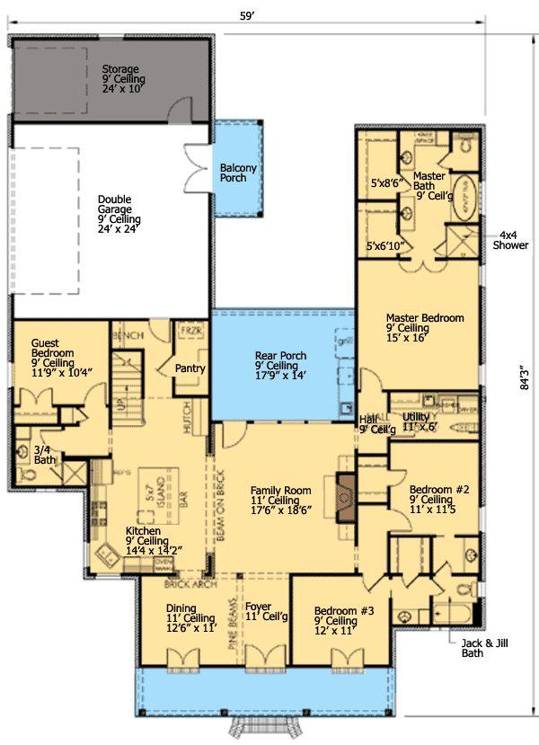 59 best floor plans images on pinterest floor plans for Floor plans with bonus room