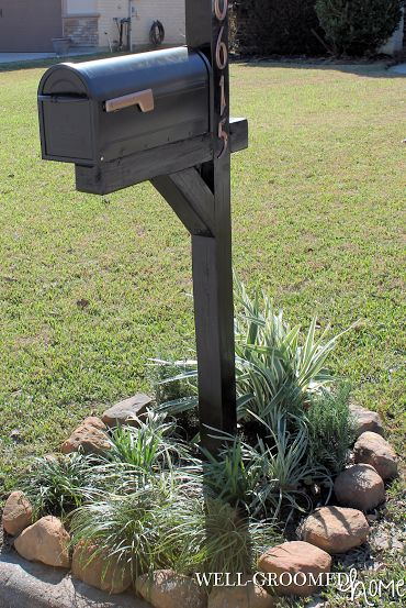 My Mailbox Makeover; copper and black mailbox; painted mailbox