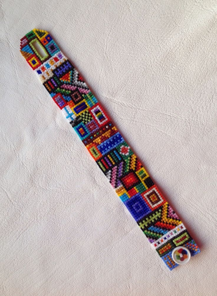 Crazelet, as I call my loomed seed-bead bracelets which remind me of crazy quilts. Each is OOAK, since I invent the designs as I go.