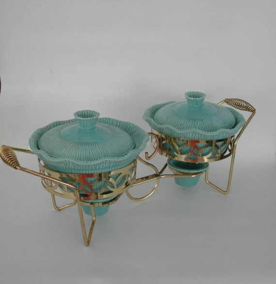 shaBBy cHiC vintage aqua  keep warm serving dishes by chenilleno5, $22.00
