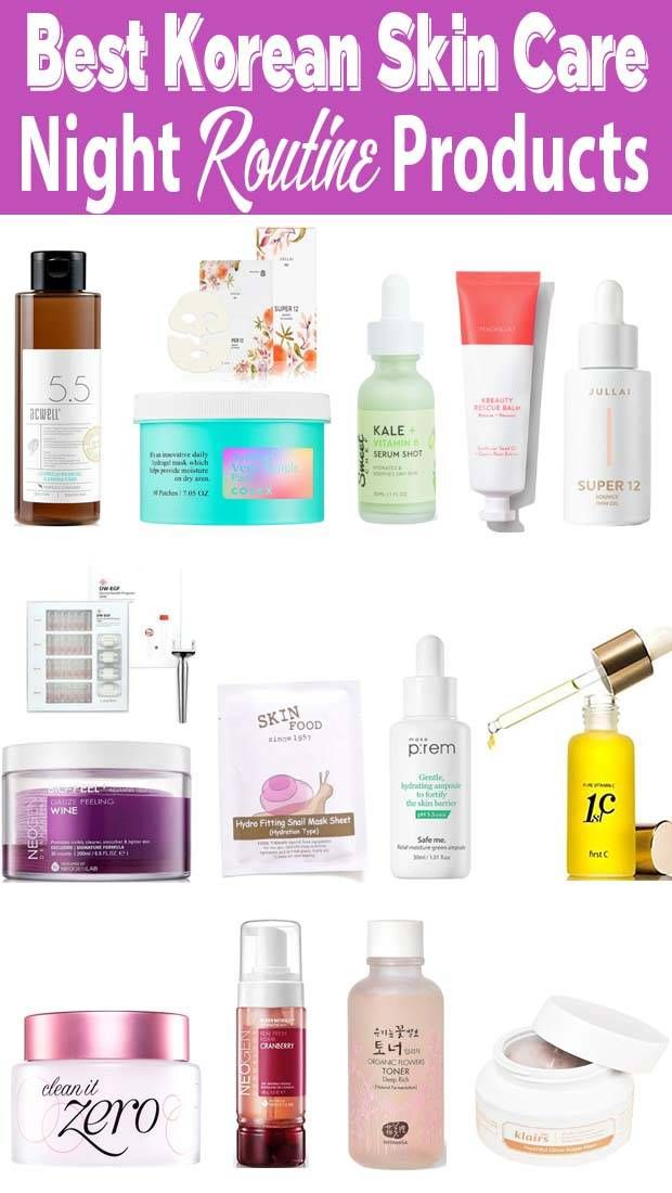 Korean Skin Care Routine Night Time Using Best Products Korean Skincare Routine Night Skin Care Routine Korean Morning Skincare Routine