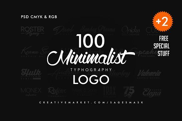 Minimal Logo by sagesmask on @creativemarket