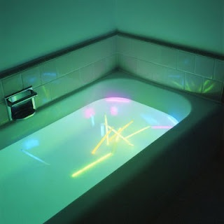 Glo-Sticks Bath Time - how fun!