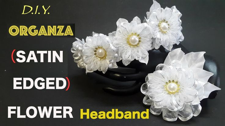 This gorgeous flower headband is made with 2.5cm Satin Edged Organza Ribbon using a very simple and easy technique. Hope you will like it. Ideal for occasion...