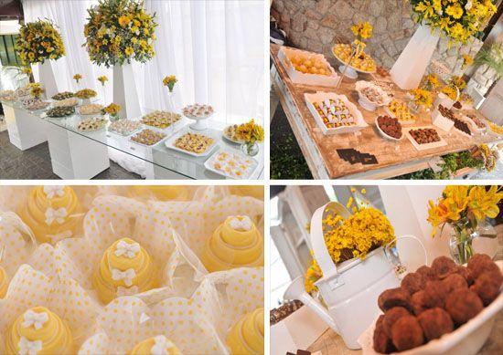 yellow wedding decoration