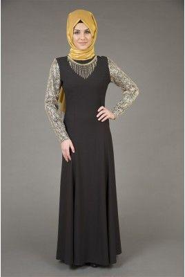 İpekdal 3885 Abiye Elbise Siyah