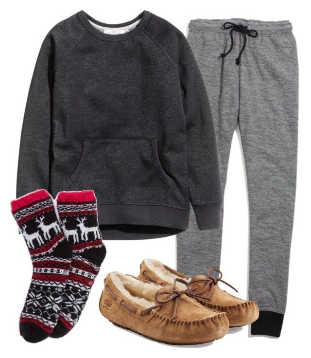 Untitled #128 by mon-holopainen on Polyvore featuring moda, H&M, Madewell and UGG Australia
