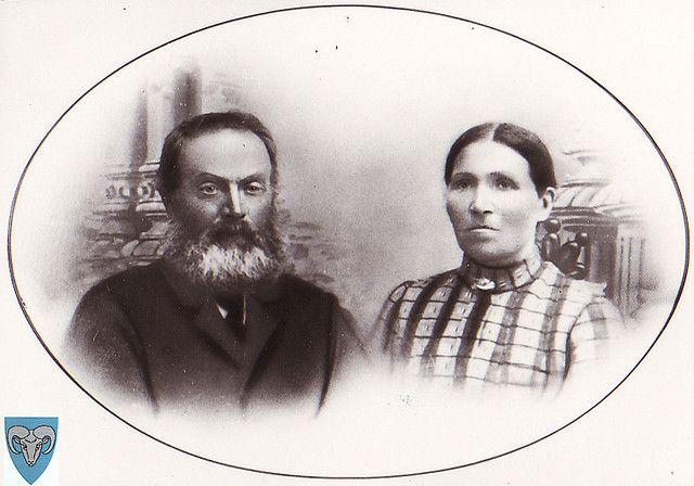 Endre og Karen Maria Søyland by gjesdal.bibliotek, via Flickr in Kyllingstad, Gjesdal, Rogaland,My great great grand father and my great great grand mother