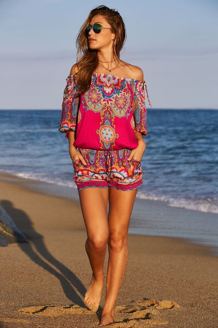7529f32eeb3 I love the bold patterns in spice market hues define this smocked ...