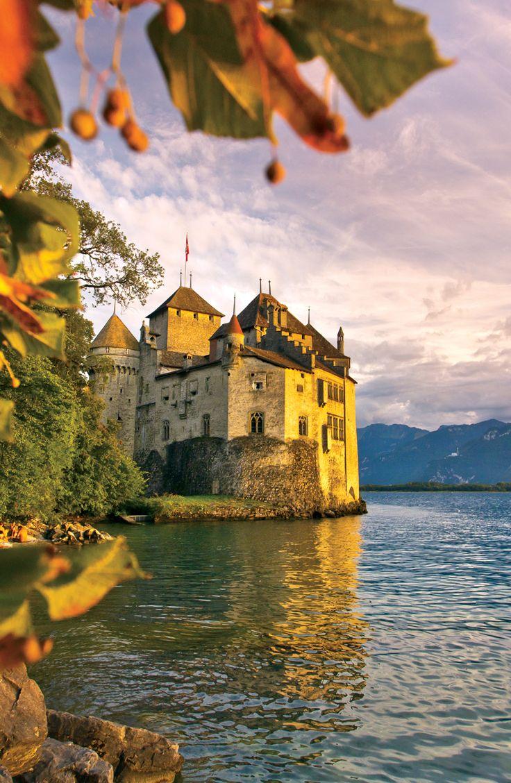Visit Chateau Chillon, on the edge of Lake Geneva.