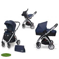 El #cochecito trío Kudu 4 de #CasualPlay para el #bebe esta diseñado para los papis mas prácticos puesto que es un coche compacto, ligero y de plegado facil. En www.elparquecillo.com