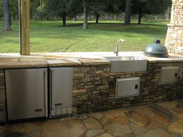 Küchenarbeitsplatte Granit Draußen Gestalten