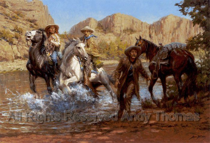Thomas Fire Pictures >> Tom Horn, Mickey Free and Al Sieber Under Fire by Andy Thomas ~ cowboys Old West | Horses ...