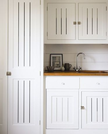 Prairie Seed: stick-built hand-joined bespoke cabinetry. Inset with ventilation.