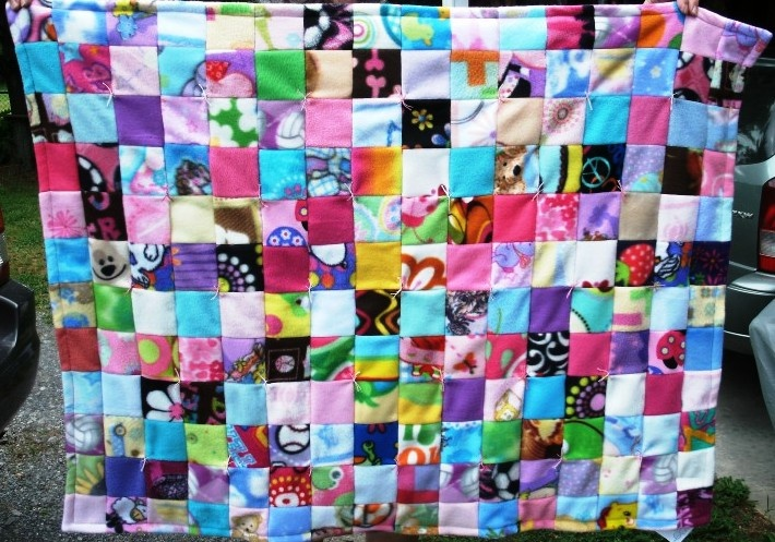 Fleece Squares Blanket Made For Project Linus Sewn From