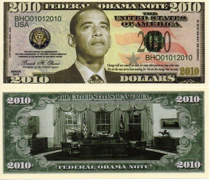 Details about President Barack Obama Presidential 2010 Novelty Money