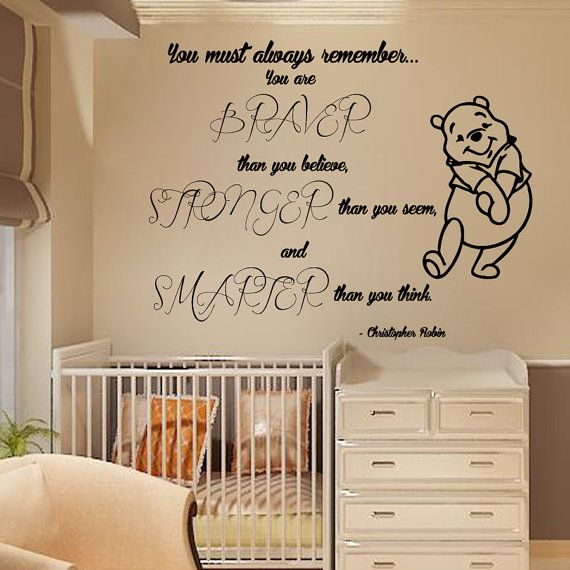 Wall Decals Winnie the Pooh Quote You Must by DecalMyHappyShop