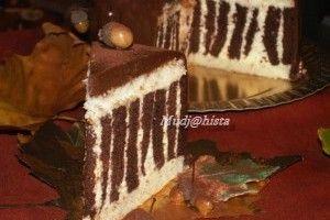 Tort zebra cu frisca - Culinar.ro