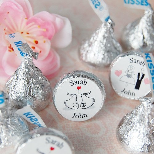 Personalized Wedding HersheyParty Favors, Ideas, Wedding Favors, Personalized Wedding, Wedding Parties Favors, Theme Wedding, Hershey Kisses, Chocolates Covers Pretzels, Bridal Shower Favors