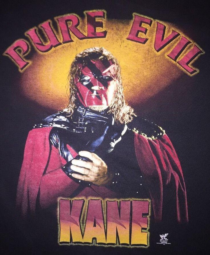 90s Vintage Kane Shirt Pure Evil WWF Original Promo Undertaker Wrestling 1990s
