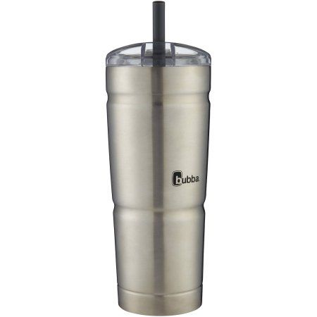 bubba Envy S Stainless Steel Tumbler with Clear Lid, 24 oz, Silver
