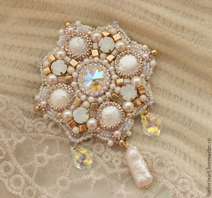 """Купить Брошь """"Брызги шампанского"""" - комбинированный, золотистый, кристальный, сверкающий, роскошная брошь, рококо, шампанское"""