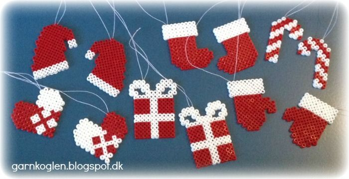 Christmas ornaments hama mini beads - GARNKOGLEN