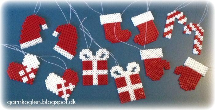 Christmas ornaments hama mini beads - GARNKOGLEN