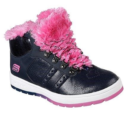 Skechers Kids' Street Cleat 2.0 Trickstar Sneaker Pre/Grade School Shoes (Navy/Hot Pink)