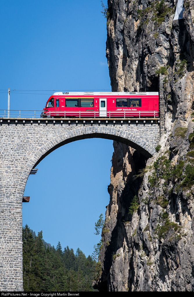 3504 RhB - Rhätische Bahn ABe 8/12 at Filisur, Switzerland by Martin Bennet