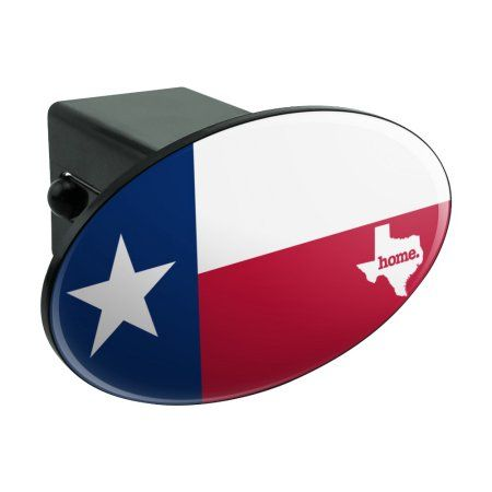 """Free Shipping. Buy Texas TX Home State Flag Officially Licensed Oval Tow Hitch Cover Trailer Plug Insert 2"""" at Walmart.com"""